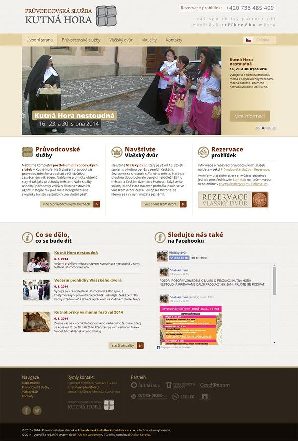 Úvodní stránka webu Průvodcovská služba Kutná Hora